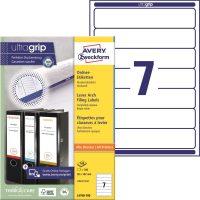 Avery Zweckform No. L4760-100 univerzális 38 x 192 mm méretű, fehér öntapadó iratrendező címke A4-es íven - 700 címke / doboz - 100 ív / doboz (Avery L4760-100)