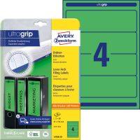 Avery Zweckform No. L4768-20 univerzális 61 x 192 mm méretű, zöld színű öntapadó iratrendező címke A4-es íven - 80 címke / csomag - 20 ív / csomag (Avery L4768-20)