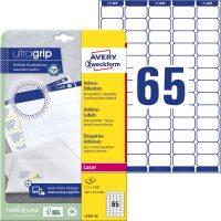 Avery Zweckform No. L7651-25 lézeres 38,1 x 21,2 mm méretű, fehér öntapadó etikett címke A4-es íven - 1625 címke / csomag - 25 ív / csomag (Avery L7651-25)