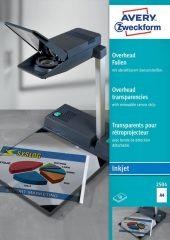 Avery Zweckform No. 2504 írásvetítő fólia tintasugaras nyomtatóhoz érzékelő csíkkal (vastagság: 0,11 mm, méret: A4, 50 ív / csomag)(Avery 2504)