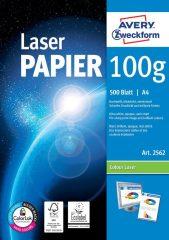 Avery Zweckform No. 2562 lézeres 210 x 297 mm (A4) méretű, 100 g -os különleges minőségű fehér félfényes papír - 500 ív / csomag (Avery 2562)