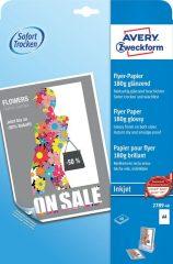 Avery Zweckform No. 2789-40 tintasugaras 210 x 297 mm (A4) méretű, 180 g -os hagyományos fényes nyomtatható szórólap papír - 40 ív / doboz (Avery 2789-40)