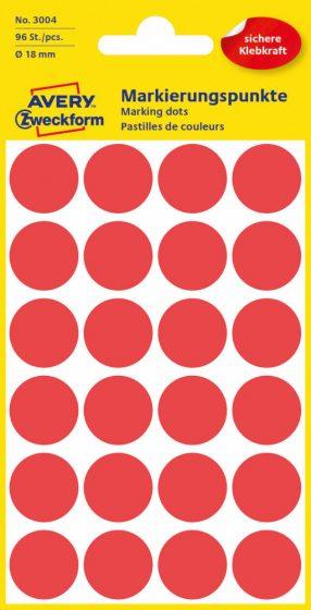 Avery Zweckform 3004 piros színű öntapadós jelölő címke