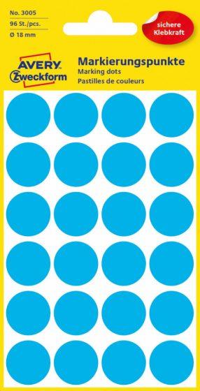 Avery Zweckform 3005 kék színű öntapadós jelölő címke