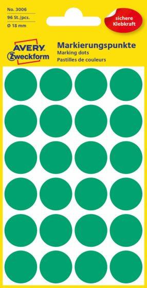 Avery Zweckform 3006 zöld színű öntapadós jelölő címke