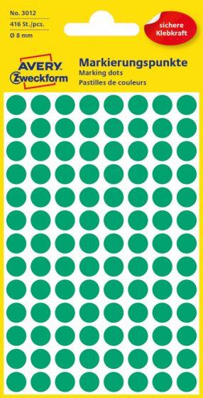Avery Zweckform 3012 zöld színű öntapadós jelölő címke