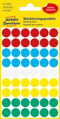 Avery Zweckform 3088 vegyes színű öntapadós jelölő címke