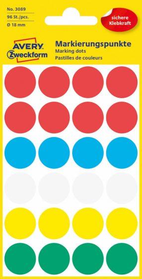 Avery Zweckform 3089 vegyes színű öntapadós jelölő címke