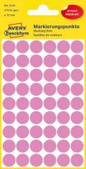 Avery Zweckform 3114 rózsaszínű öntapadós jelölő címke