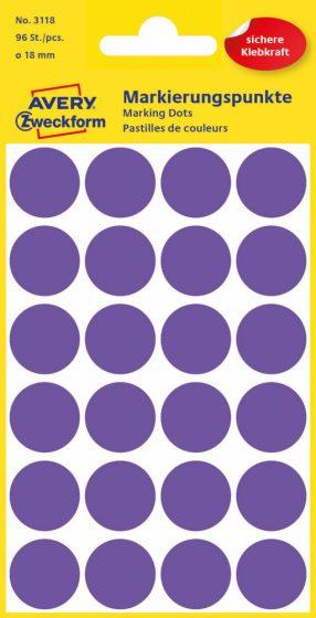 Avery Zweckform 3118 lila színű öntapadós jelölő címke