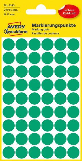 Avery Zweckform 3143 zöld színű öntapadós jelölő címke
