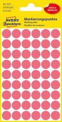 Avery Zweckform 3147 neon piros színű öntapadós jelölő címke