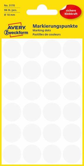 Avery Zweckform 3170 fehér színű öntapadós jelölő címke