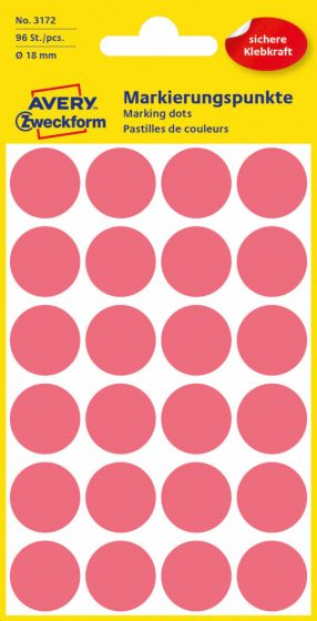 Avery Zweckform 3172 neon piros színű öntapadós jelölő címke