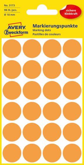 Avery Zweckform 3173 neon narancssárga színű öntapadós jelölő címke