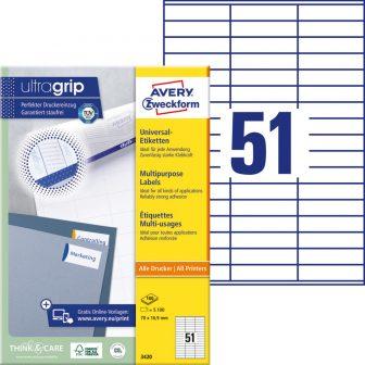 Avery Zweckform 3420 nyomtatható öntapadós etikett címke