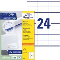 Avery Zweckform 3422 nyomtatható öntapadós etikett címke