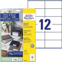 Avery Zweckform 3424-10 nyomtatható öntapadós etikett címke