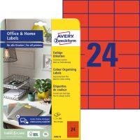 Avery Zweckform 3448-10 nyomtatható színes öntapadós etikett címke