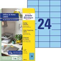 Avery Zweckform 3449-10 nyomtatható színes öntapadós etikett címke