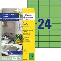 Avery Zweckform 3450-10 nyomtatható színes öntapadós etikett címke