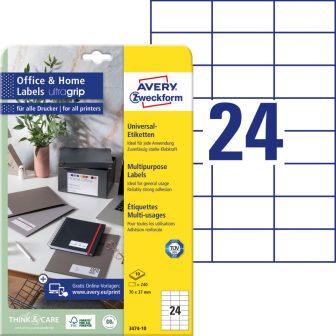 Avery Zweckform 3474-10 nyomtatható öntapadós etikett címke