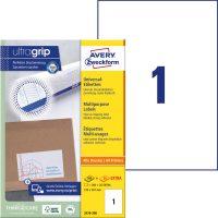 Avery Zweckform No. 3478-200 univerzális 210 x 297 mm méretű, fehér öntapadó etikett címke A4-es íven - 200 címke / doboz - 200 ív / doboz (Avery 3478-200)