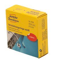 Avery Zweckform No. 3508 fehér, 13 mm átmérőjű öntapadó lyukerősítő gyűrű adagoló dobozban - 500 gyűrű / doboz (Avery 3508)