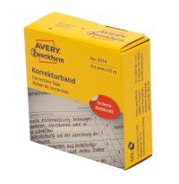 Avery Zweckform No. 3514 tekercses 8,5 mm x 15 méter méretű, kézzel írható fehér öntapadó szalag (Avery 3514)