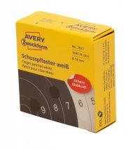 Avery Zweckform 3521 fehér színű tekercses öntapadós céltábla jelölő címke