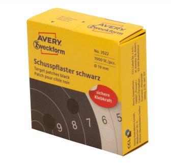 Avery Zweckform 3522 fekete színű tekercses öntapadós céltábla jelölő címke