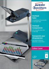 Avery Zweckform No. 3560 írásvetítő fólia színes lézernyomtatóhoz (vastagság: 0,10 mm, méret: A4, 50 ív / csomag)(Avery 3560)