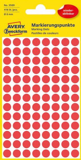 Avery Zweckform 3589 piros színű öntapadós jelölő címke
