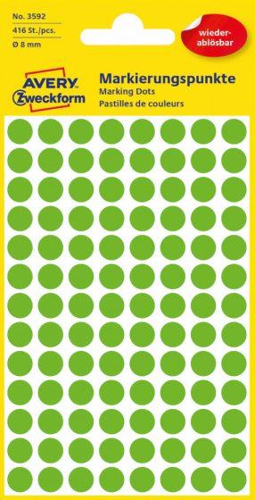 Avery Zweckform 3592 zöld színű öntapadós jelölő címke
