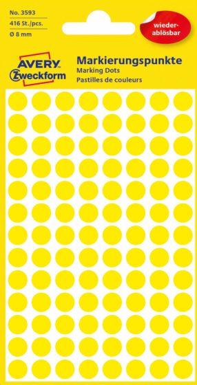 Avery Zweckform 3593 sárga színű öntapadós jelölő címke