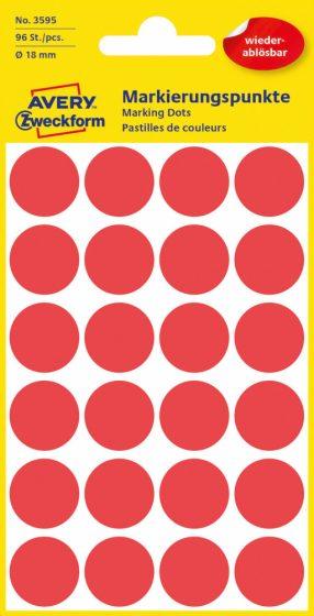 Avery Zweckform 3595 piros színű öntapadós jelölő címke