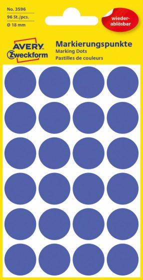 Avery Zweckform 3596 kék színű öntapadós jelölő címke