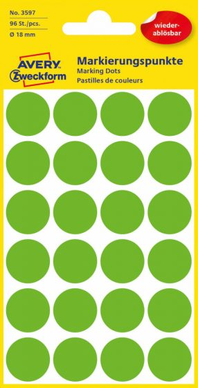 Avery Zweckform 3597 zöld színű öntapadós jelölő címke