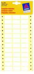 Avery Zweckform No. 3604 leporellós 25 x 14 mm méretű, fehér színű, 3 pályás öntapadó címke mátrix nyomtatókhoz - 1800 címke / csomag (Avery 3604)