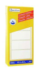 Avery Zweckform No. 3617 leporellós 101,6 x 48,4 mm méretű, fehér színű, 1 pályás öntapadó címke mátrix nyomtatókhoz - 2000 címke / doboz (Avery 3617)