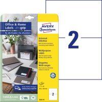 Avery Zweckform 3655-10 nyomtatható öntapadós etikett címke