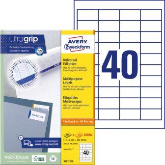 Avery Zweckform 3657-200 nyomtatható öntapadós etikett címke