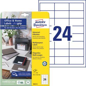Avery Zweckform 3658-10 nyomtatható öntapadós etikett címke