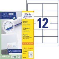 Avery Zweckform No. 3659-200 univerzális 97 x 42,3 mm méretű, fehér öntapadó etikett címke A4-es íven - 2640 címke / doboz - 220 ív / doboz (Avery 3659-200)