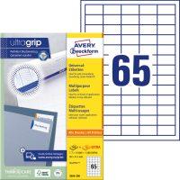 Avery Zweckform No. 3666-200 univerzális 38 x 21,2 mm méretű, fehér öntapadó etikett címke A4-es íven - 14300 címke / doboz - 220 ív / doboz (Avery 3666-200)