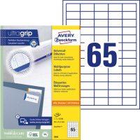 8b84e1fea6 Avery Zweckform No. 3666 univerzális 38 x 21,2 mm méretű, fehér öntapadó