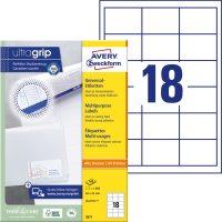 Avery Zweckform 3671 nyomtatható öntapadós etikett címke