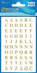 Avery Zweckform Z-Design No. 3727 öntapadó átlátszó nyomtatott nagybetűk - arany színben - kiszerelés: 2 ív / csomag (Avery Z-Design 3727)