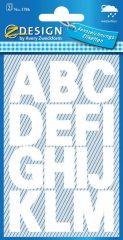 Avery Zweckform Z-Design No. 3786 időjárásálló öntapadó nyomtatott nagybetűk - fehér színben - kiszerelés: 2 ív / csomag (Avery Z-Design 3786)