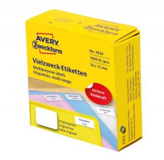Avery Zweckform 3830 kézzel írható tekercses öntapadós etikett címke